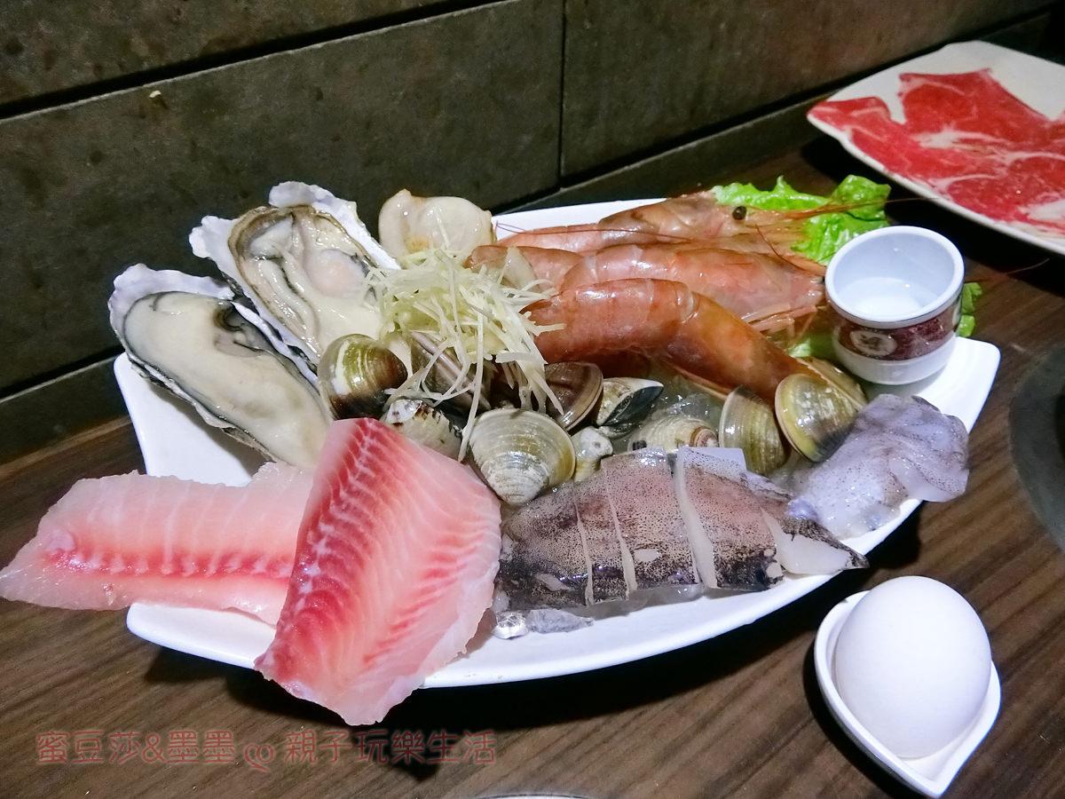 新店區公所捷運站∣鮮境涮涮鍋 中興店 天使紅蝦好大隻 還有豐富的海鮮盤∣新店美食