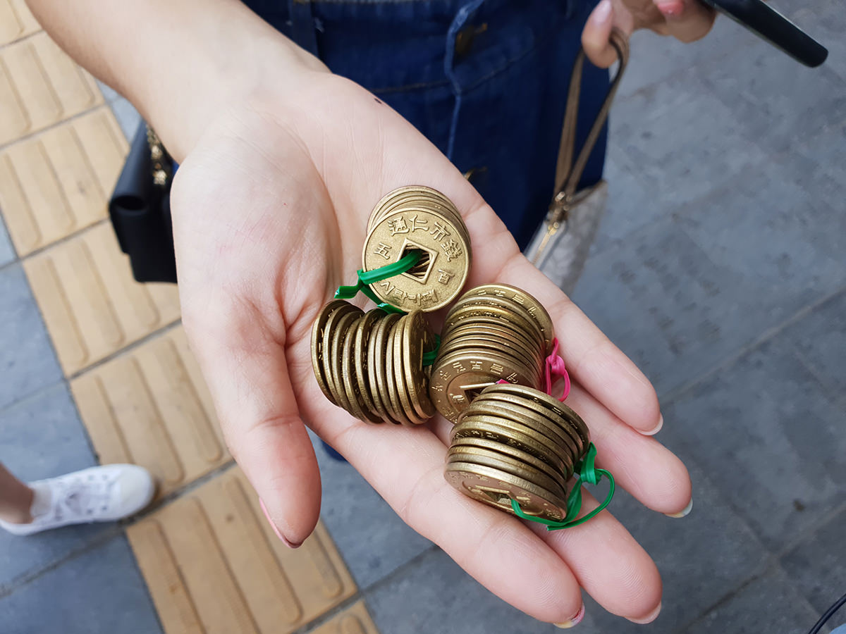 韓國 通仁市場 銅幣交易的傳統美食小吃市場
